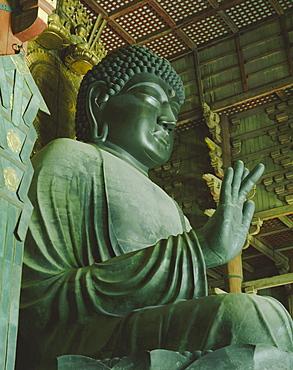 Buddha statue, Todaiji Temple, Nara, Honshu, Japan, Asia