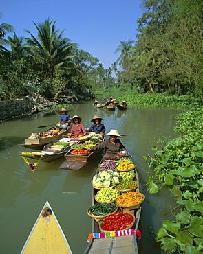 Floating market, Thailand, Asia