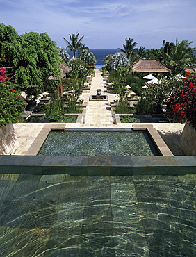 View from the lobby Terrace at the Ayana Resprt and Spa, formerly the Ritz Carlton Resort and Spa, Bali, Indonesia, Southeast Asia, Asia