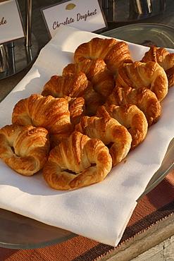 Croissants from breakfast buffet spread