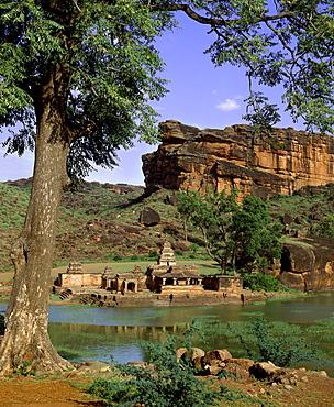 Bhutanatha Temple dating from the 5th century, Badami, Karnataka, India, Asia