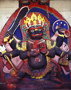 Kali Bhairava, dating from the 17th century, Kathmandu, Nepal, Asia