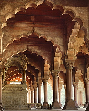 The Throne of Akbar, Red Fort, UNESCO World Heritage Site, Delhi, India, Asia