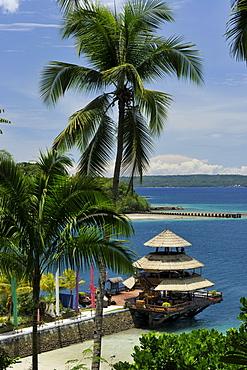 Restaurant by the beach, Pearl Farm Resort on Samar Island in Davao, Mindanao, Philippines, Southeast Asia, Asia