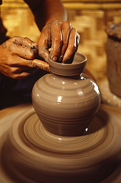 Potter's wheel, Chiang Mai, Thailand, Southeast Asia, Asia
