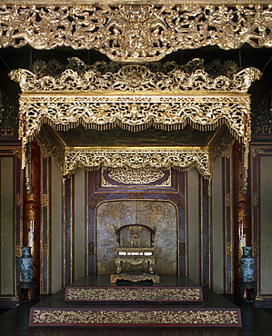 The Throne Hall, The Citadel at Hue, Vietnam, Indochina, Southeast Asia, Asia