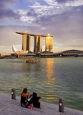 Marina Bay Sands Resort and Casino, designed by Moshe Safdie, Singapore, Southeast Asia, Asia