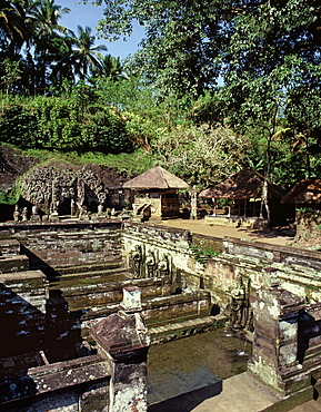 Fountain discovered by archaeologists in 1923, 11th century Elephant Cave (Goa Gajah), Bali, Indonesia, Southeast Asia, Asia