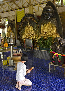 Wat Huay Monkol, a pilgrimage place and tourist attraction near Hua Hin, Thailand, Southeast Asia, Asia