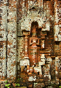 Detail of Temple 5B, Cham art, My Son, UNESCO World Heritage Site, Vietnam, Indochina, Southeast Asia, Asia