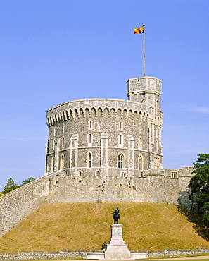 The Round Tower, Windsor Castle, Berkshire, England, UK