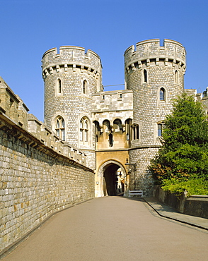 The Norman Gate, Windsor Castle, Berkshire, England, UK