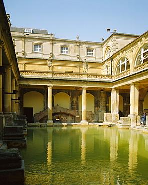 The Roman Baths, Bath, Avon, England, UK