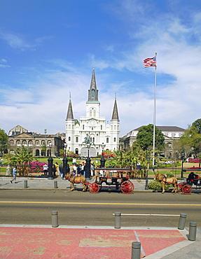 Jackson Square, New Orleans, Louisiana, USA, North America