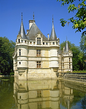 Chateau, Azay-le-Rideau, Indre-et-Loire, Loire Valley, France, Europe