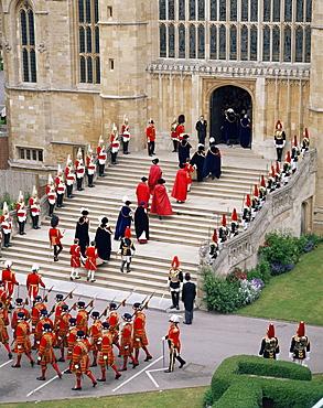 Garter ceremony, St. George's Chapel, Windsor Castle, Berkshire, England, United Kingdom, Europe