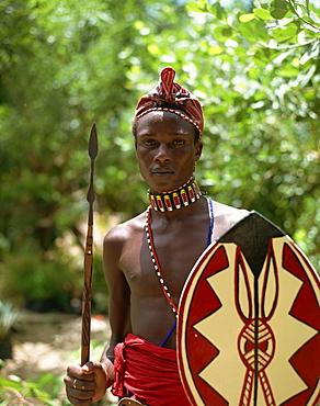 Masai warrior, Kenya, East Africa, Africa