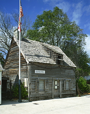 Oldest wooden school house in the country, St. Augustine, Florida, United States of America, North America