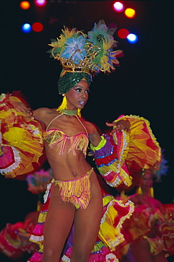 Dancer, Tropicana Cabaret, Havana, Cuba, West Indies, Central America