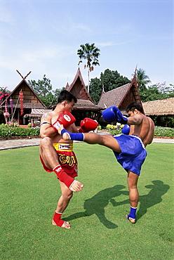 Thai boxers, the Rose Garden, Bangkok, Thailand, Southeast Asia, Asia