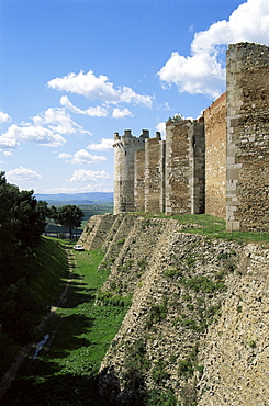 The 13th century castle, built by Frederick II and enlarged by Charles I, Lucera, Puglia, Italy, Europe