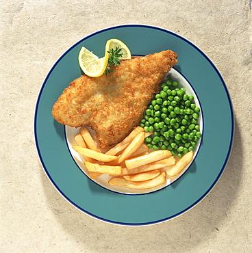 Fish and chips, traditional British dish