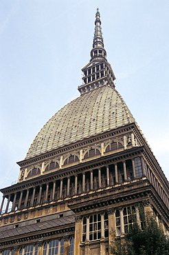 Mole Antonelliana, originally a synagogue, sold to the city, of which it is now a symbol, Turin, Piedmont, Italy, Europe