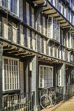The town centre of the historic market town of Evesham in Worcestershire, England, United Kingdom, Europe