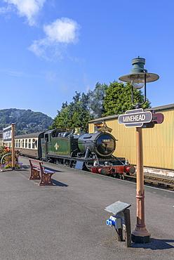 The West Somerset Railway, Minehead Station, Somerset, England, United Kingdom, Europe