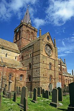 St. Magnus cathedral, Kirkwall, Orkney Isles, Scotland, United Kingdom, Europe