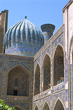 Ulughbek Medressa, Registan, Samarkand, Uzbekistan, Central Asia, Asia