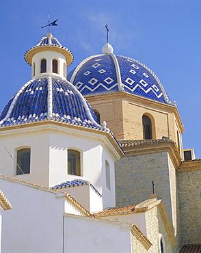 Church in Altea, Valencia, Spain, Europe