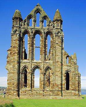 Ruins of Whitby Abbey, Whitby, Yorkshire, England, UK, Europe