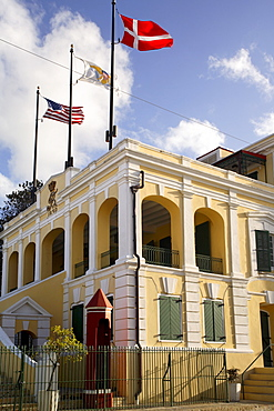 Government house, Christiansted, St.Croix, U.S. Virgin Islands, West Indies, Caribbean, Central America