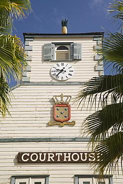 Courthouse, Philipsburg, Dutch St. Maarten, West Indies, Caribbean, Central America