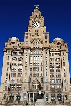 Liver building, Pierhead, Liverpool, Merseyside, England, United Kingdom, Europe
