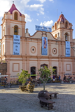 Candelaria church, Plaza del Carmen, Camaguey, Cuba, West Indies, Caribbean, Central America