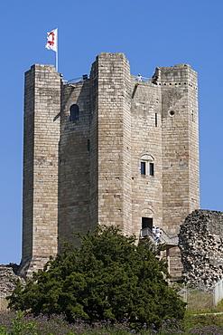Conisbrough castle, South Yorkshire, Yorkshire, England, United Kingdom, Europe