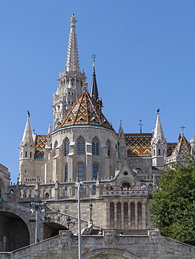 Matthias Church, Fishermans' Bastion, Budapest, Hungary, Europe