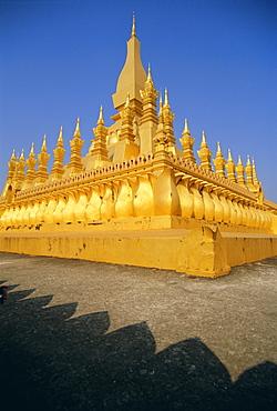 Pha Tat Luang (Pha That Luang), Vientiane, Laos, Indochina, Asia
