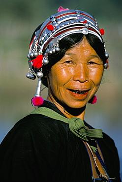 Akha lady, Maung Long, Laos, Indochina, Southeast Asia, Asia