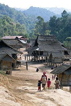Nam Ded Mai Akha village, Maung Sing, Laos, Indochina, Southeast Asia, Asia