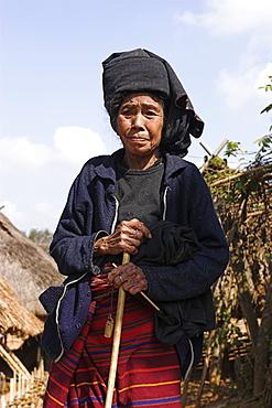 Wan Sai village (Aku tribe), Aku lady, Kengtung (Kyaing Tong), Shan State, Myanmar (Burma), Asia