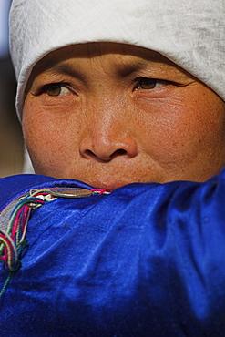Wan Pauk village (Paulaung tribe), Paulaung lady, Kengtung (Kyaing Tong), Shan State, Myanmar (Burma), Asia