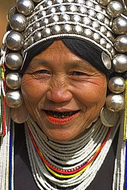 Nun Lin Kong village (Akha Tribe), Akha lady, Kengtung (Kyaing Tong), Shan State, Myanmar (Burma), Asia