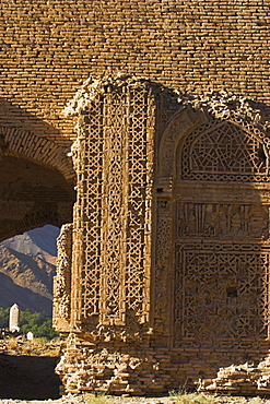 Twelfth century Ghorid ruins believed to be a mausoleum or madrassa, Jam to Obay, Chist-I-Sharif, Ghor (Ghur) (Ghowr) province, Afghanistan, Asia