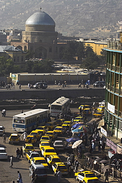 Early morning traffic, central area, Kabul, Afghanistan, Asia