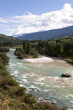 River Chamkhar Chhu near Jakar, Bumthang, Bhutan, Asia