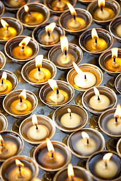 Prayer candles, Kathmandu, Nepal, Asia