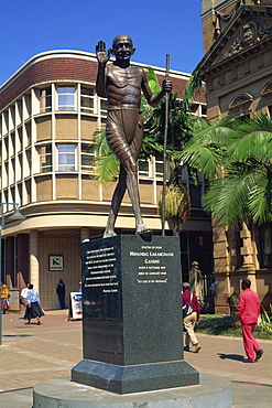 Gandhi, Statue of Hope, Pietermaritzburg, Natal, South Africa, Africa - 365-2688